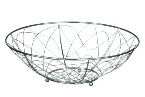 Premier Housewares - Frutero, diseño de líneas irregulares, cromado