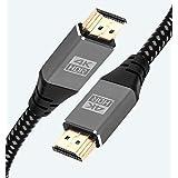 IBRA 4K HDMI-kabel, 5 m, Ultra High-Speed 18 Gbit/s HDMI 2.0b kabel 4K @ 60Hz stöder Fire TV, Ethernet, Audio Return, Video U
