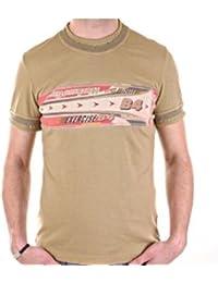 D&G t-shirt Dolce & Gabbana washed khaki top DGM3009