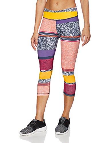Puma All Eyes On Me Pantalon 3/4pour Homme orange clown fish-electric purple-no color-Stacked print