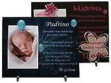 Lote: 1 Marco de fotos para Padrino + 1 Madrina - Regalo para bautizos, Navidad, cumpleaños. ...