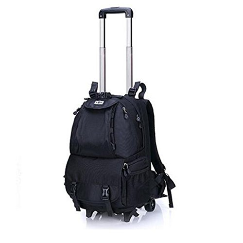 ZXZ-GO Wasserdichte Kamera Rucksack leichtes Anti-Diebstahl SLR-Kamera Computer Rucksack Two Styles Nylon Pack Nylon Pack mit Retractable Trolley Grip für Travel Hiking Black A Nylon Slr-kamera