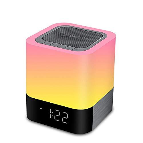 GY-Lmap Bunte Lichter Tragbare Karte Touch LED Wecker Tischlampe Sowie Desktop-Audio