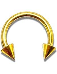 Piercing Herradura Anodizado Dorado Spikes VotrePiercing - 1.2 x 8 x 4 mm