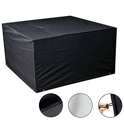 YYFANG Abdeckung gartenmöbel Balkon Hof Tisch und Stuhl Hocker Staubschutzhülle Hochwertige wasserdichte Oxford Tuch Unterstützung Anpassung, 25 Größen (Color : Black, Size : 1.3x1.3x0.9m)