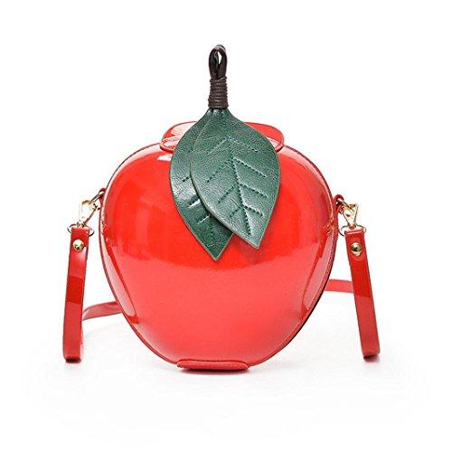 TUDUZ Damenmode Apfel Reißverschluss Handtasche Schultertasche Tote Damen Messenger Tasche (Rot) (Kostüm Prinzessin Toten)