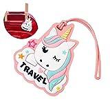 Beito Unicorn Bagagli ID Etichette Travel Bag Etichette Tag Bagaglio Valigia per Bambini (Pink Clouds)