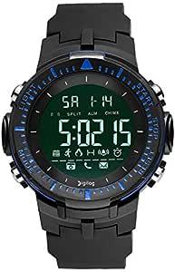 Digilog Sharp Sports Activewear Black & Red Digital Multi Function Watch for Men & Boys (Day, Date, Alarm, Backlight, Stopwatch & More) (Blue)