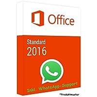 MS Office 2016 Standard LIZENZ KEY - POSTBRIEF-VERSAND - 32 / 64 Bit - 1 Aktivierung / 1 PC + Anleitung von U-S-B…