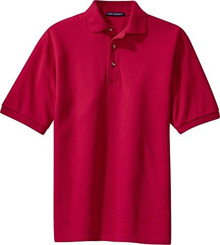 Port Authority Pique Sport Shirt W Tasche (k420p) Rot