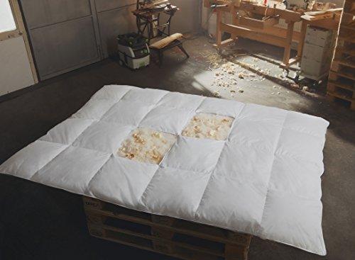 Zirben - Daunen Bettdecke Ganzjahresbett leicht 135x200 Hermetic® Zirbe