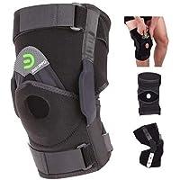 DISUPPO Ginocchiera Ortopedica, Tutore Ginocchio Supporto per Running, Jogging, Formazione, Calcio, Pallavolo, Basket…