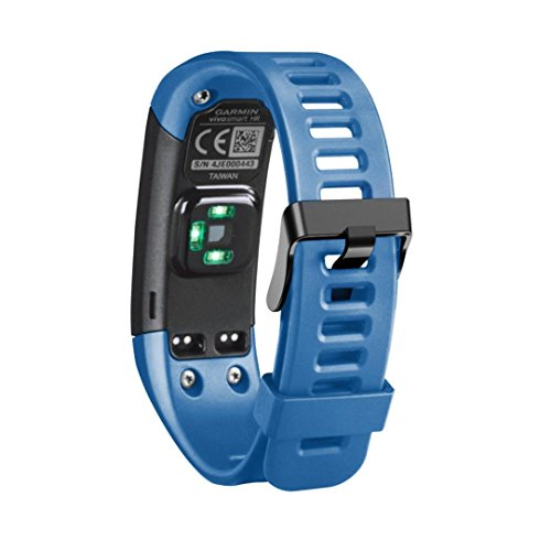 Garmin-uhr 210 (Transer® für Garmin Vivosmart HR Uhrenarmband + Werkzeug + 4 Schrauben, Weiches Silikon Ersatz Armband, Bandlänge: 145-210mm (Blau))