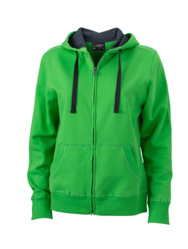 James+Nicholson Premium Kapuzenjacke mit Bionic®-Finish JN 594 Green/Carbon