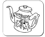 Mauspad mit der Grafik: Asien, Geschirr, dekoriert, Porzellan, Teekanne, Töpferei, Design,