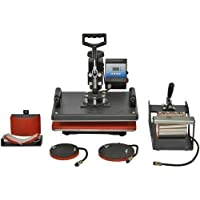 Festiko Heat Press 5 in 1 Digital Multi Functional Sublimation, Vinyl Printing Machine for T-Shirts (Any Flat Product…