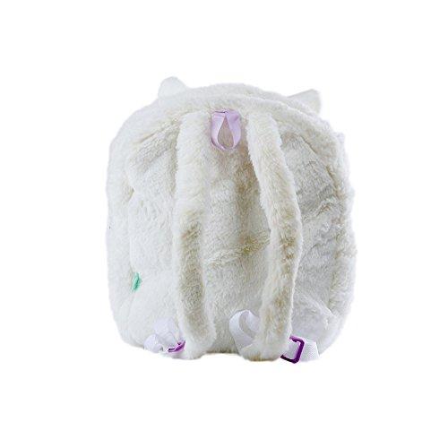 KOSBON 13 '' 3D sveglio della peluche Alpaca bambino zaino dei bambini di scuola. (Giallo) White