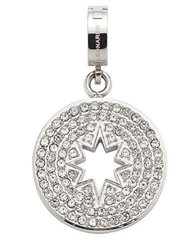 Jewels by Leonardo DARLIN'S Damen-Anhänger Elvira, Edelstahl mit klaren Schliff-Kristallen, Clip & Mix System, Größe (B/H/T): 18/31/8 mm, 016863 -