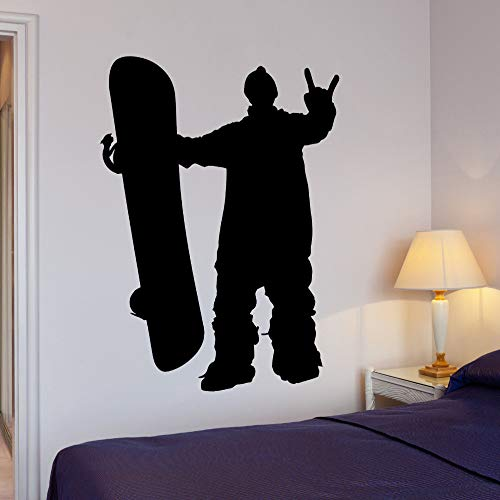 TYLPK Einfache Wandaufkleber Wohnkultur Wohnzimmer Schlafzimmer Extremsportarten Snowboarden Snowboarder Geschwindigkeit Vinyl Aufkleber 56x78 cm