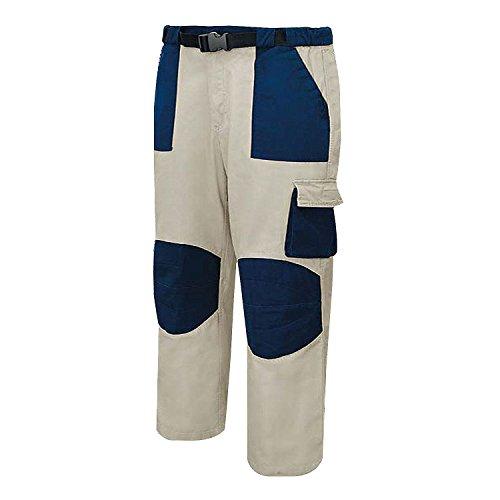 MISEMIYA - Pantaloni di Lavoro Multi-Tasche Uniforme Industriale Laboratorio Meccanico Tecnico Idraulico Muratore Ref.875 - S, Beige