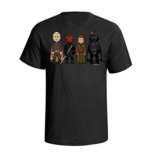 VIPWees Hombres The Dark Side Caricatura Camiseta