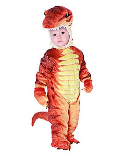 Horror-Shop Rotes T-Rex Dino Faschingskostüm für Kleinkinder & Babys XL (T-rex Kostüm Kleinkind)