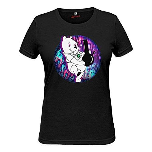 Winnie The Pooh Smokes Bong Womens T-shirt Medium