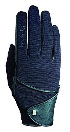 Roeckl Sports Handschuh Madison, Unisex Reithandschuh, Schwarz 6,5