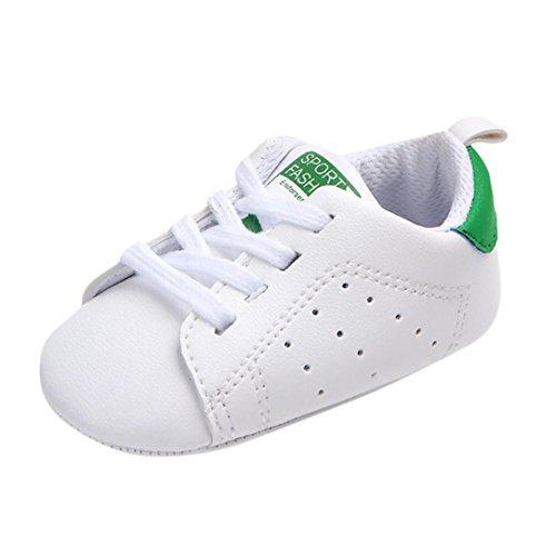 Uomogo® scarpine neonato primi passi sneaker bambini e ragazze estate bambina scarpe sandalo 3 a 18 mesi - casual (età: 0~6 mesi, verde)