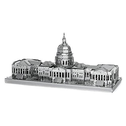 BazarAZ 1942 - Mini Figure Modellino 3D in Metallo Campidoglio Capitol Washington - Da montare - Curata dei dettagli