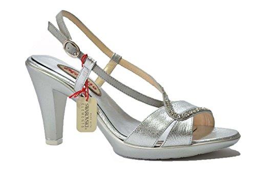 Melluso Sandali scarpe donna argento R5837 35