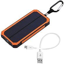 300000 mAh with 6LED waterproof solar mobile power + power orange