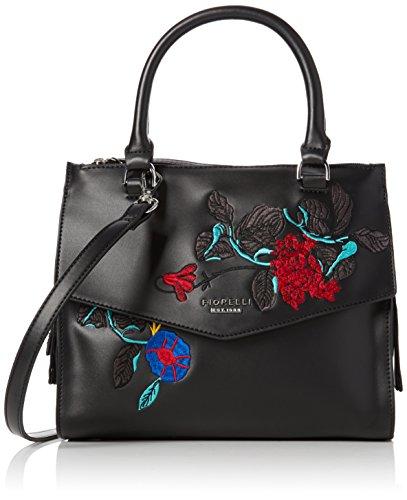 Fiorelli - Mia, Borse a mano Donna Nero (Black Embroidery)
