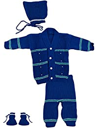 The Creators Unisex Sweater Set (Blue, 0-6 Months)