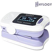 Hylogy Oxímetro de Pulso Digital Display OLED Mide Niveles de Oxígeno en Sangre SpO2 y Frecuencia del Pulso, Operación en un solo Botón, Fácil de Usar en Hogar
