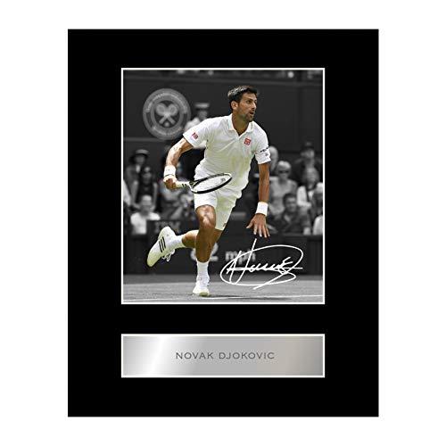 2779caa3bb Immagine montata di Novak Djokovic con autografo, idea regalo