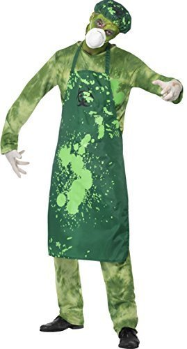 Herren Zombie Biohazard Giftig Giftige grün Halloween Fancy Kleid Kostüm - Halloween Biohazard Kostüm