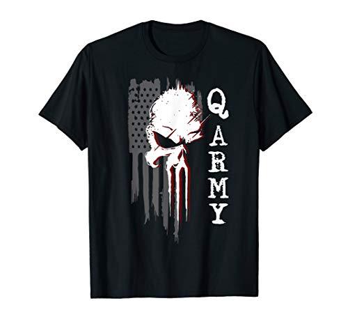 Q anon WWG1WGA Follow The Rabbit Conspiracy Theory T-Shirt -