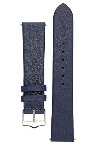 Signature-Easy band. strap. leather.-Orologio da polso con fibbia color argento