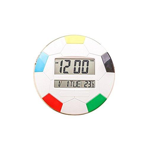 DXNSPF Orologio Elettronico Parete LCD Digitale Sveglia Data Ora,Soggiorno, Camera Letto , white