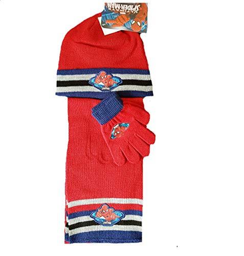 Wintermütze, Handschuhe und Schal für Jungen, Motiv Spiderman-Charaktere, gute Qualität