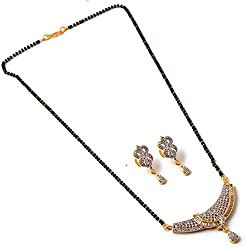 Jewar Set Silver Gold Plated Finish Ad Cz Jade Handmade Gemstones Traditional Mangalsutra 7247