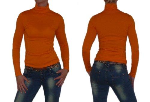 """S&LU toller Damen """"Basic-Rolli"""" Rollkragen-Langarm-Shirt in in vielen schönen Farben wahlweise in Größe 34-38 oder 40-44 Schwarz"""