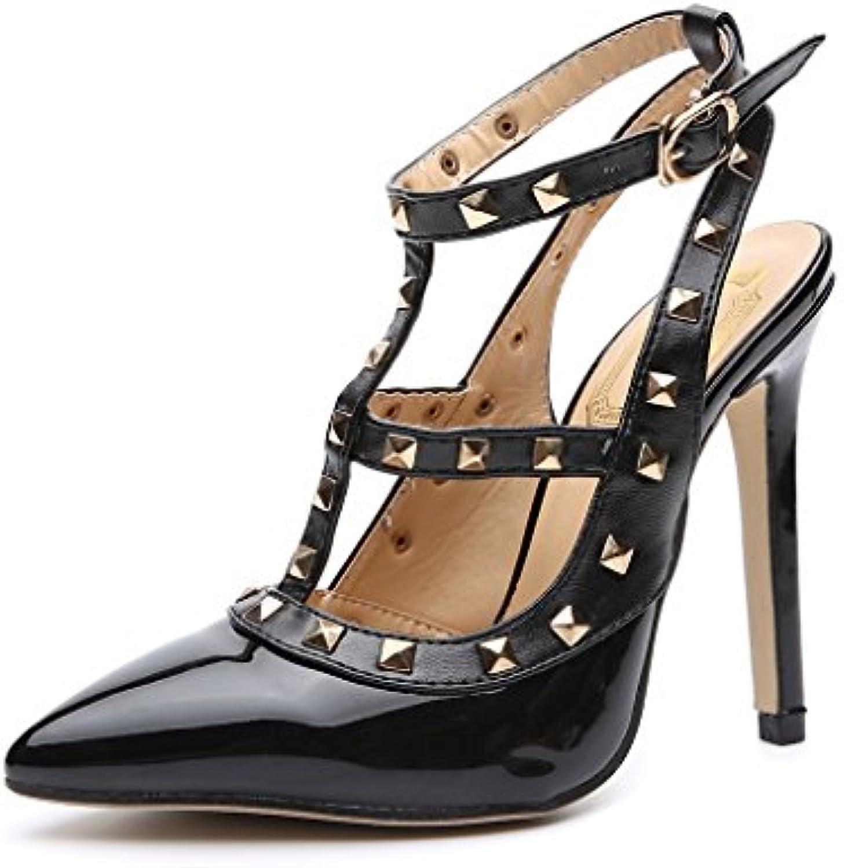 les chaussures chaussures chaussures femmes l'europe et les États unis contre loup chaussures à talons, rivets bon avec les femmes...b07ctmyfjd parent | Sélection Large  af5542