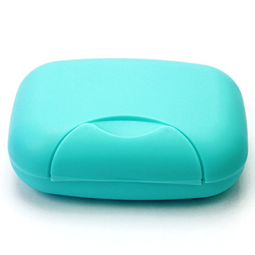Pinzhi® Plastic Soap Case Holder Container Box Home Outdoor Hiking Camping Travel (Blue)