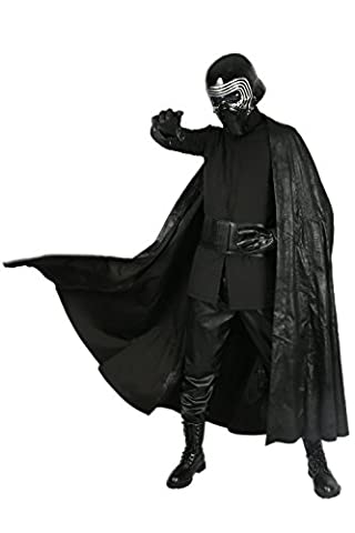 Kylo Kostüm Cosplay Vollständiger Satz Erwachsene Herren Halloween Kleidung mit Handschuhe Gürtel Fancy Dress