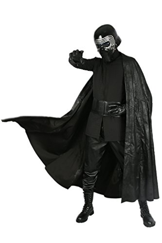 Kylo Kostüm Cosplay Vollständiger Satz Erwachsene Herren Halloween Kleidung mit Handschuhe Gürtel Fancy Dress (Sith Halloween Kostüm Lord)