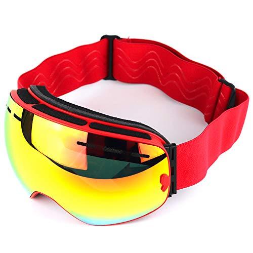 HBRT Winddichte Skibrille, Erwachsenen Mode Outdoor Sportbrille Doppel Anti-Fog UV Schutz Anti-Shedding für Schneeski