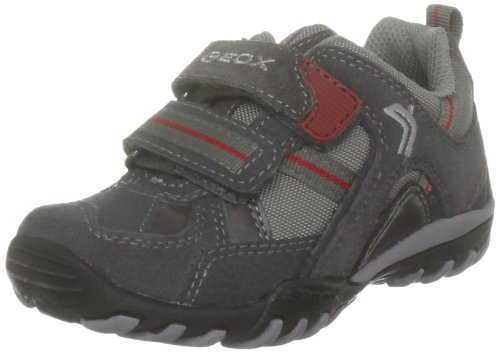 Geox Kenny A, Sneaker Uomo multicolore (Grey/Red)