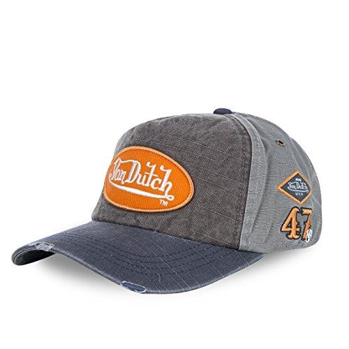 von-dutch-von-dutch-baseball-cap-jack-male-female-grey-and-brown-grey-one-size